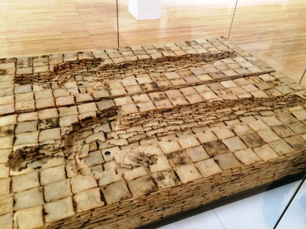 This was made out of bread,the bite marks can be seen so clearly!