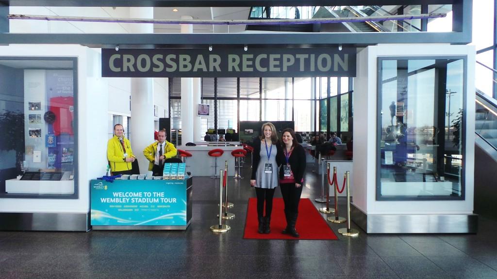 Crossbar reception at Wembley Stadium