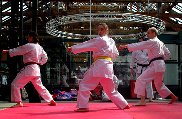 Karate on Martial Arts Stage