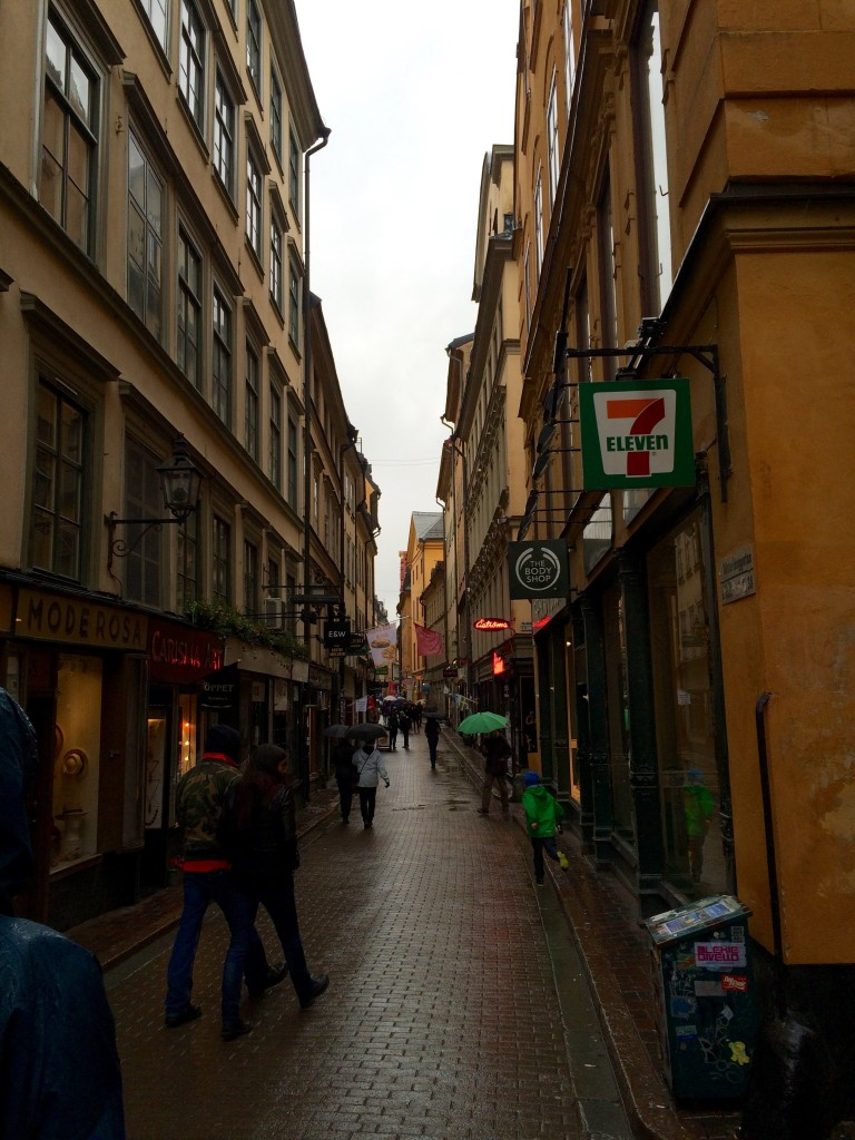 One of the main streets at Gamla Stan