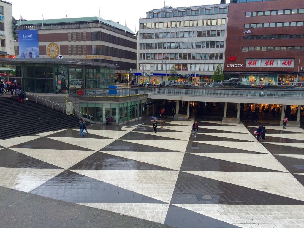 SergelsTorg Sunken Pedestrian Plaza