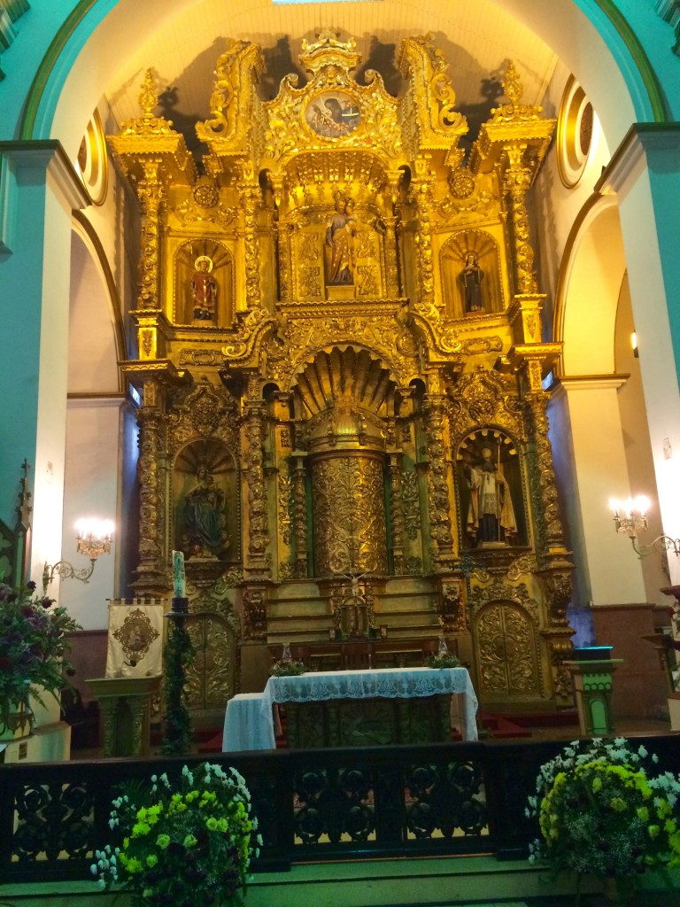Golden altar at San Jose Church