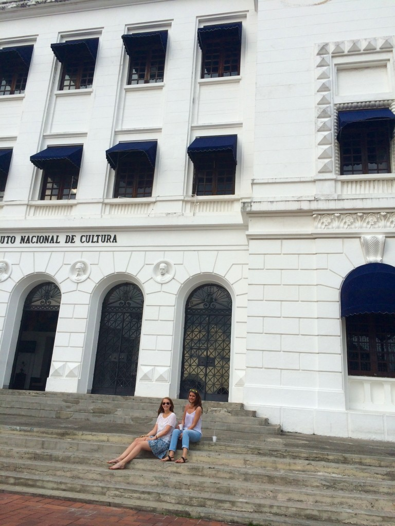 In front of the InstitutoNacional de Cultura