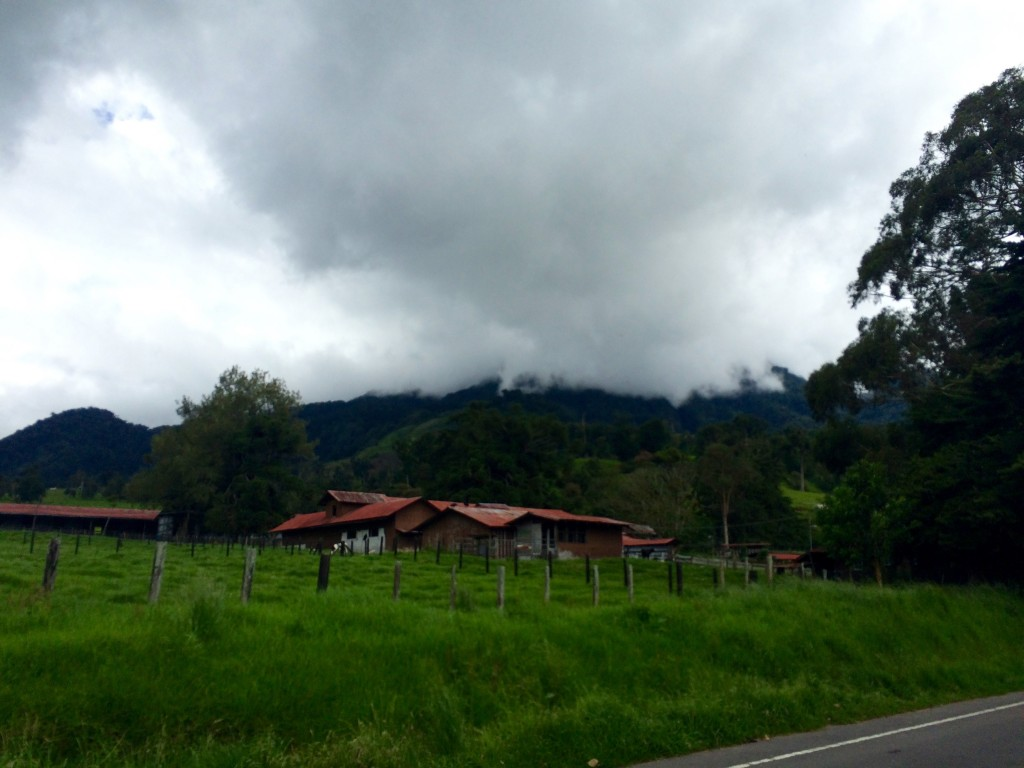 VolcanBaru covered by clouds