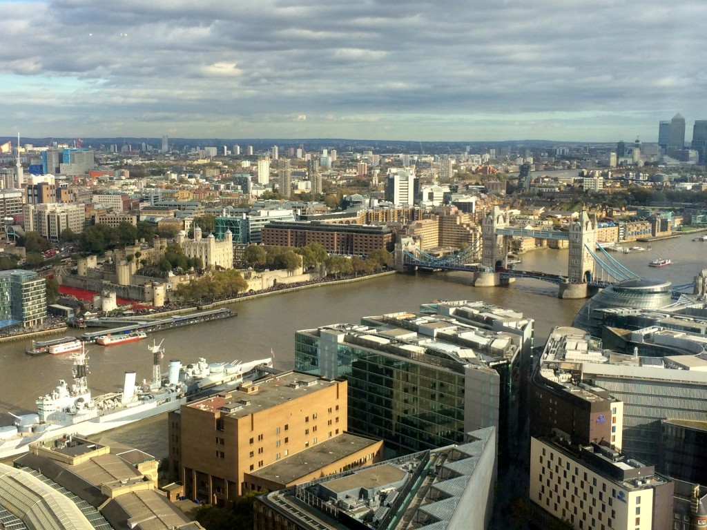 View of London from the Aqua Shard