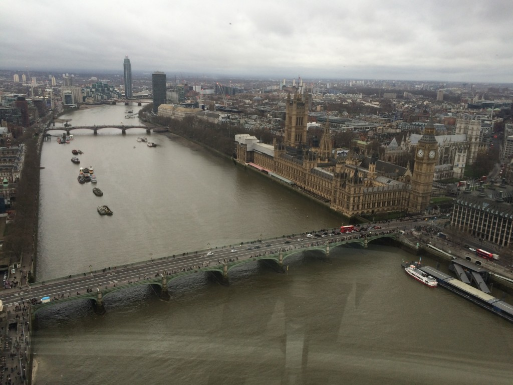 View of the Big Ben and the City of London from the London Eye