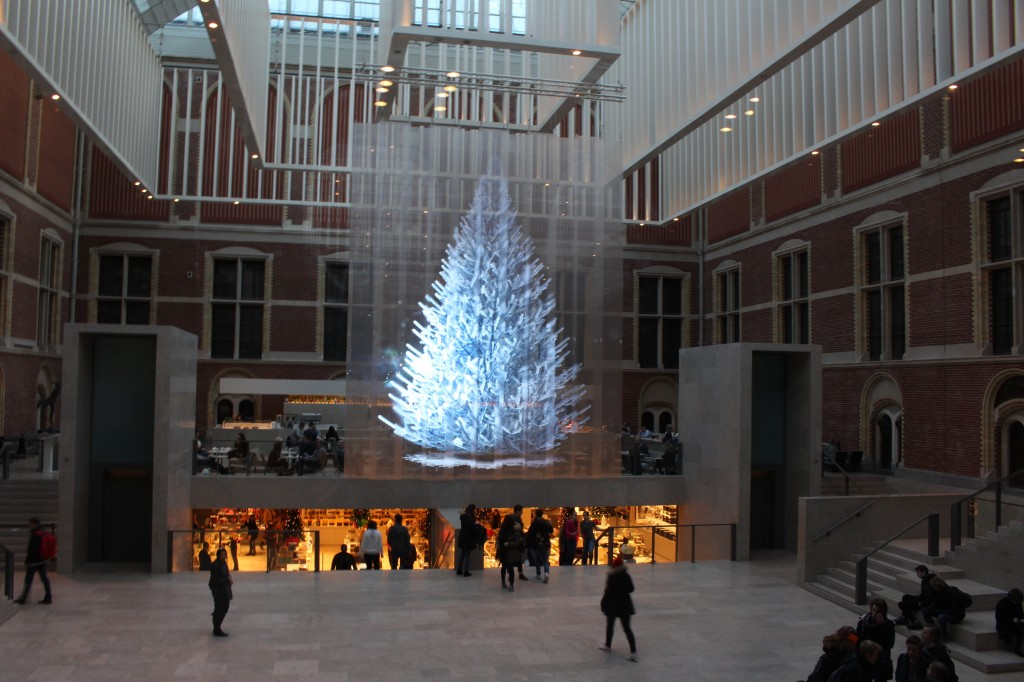 A Christmas Tree inside the RijksMuseum