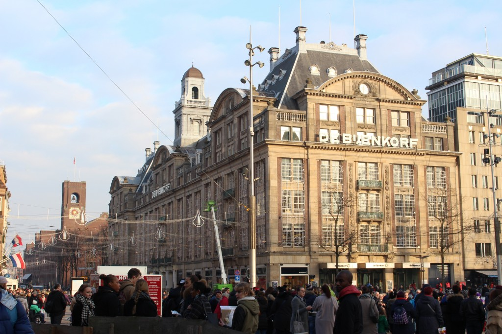 De Bijenkorf at Dam Square in Amsterdam