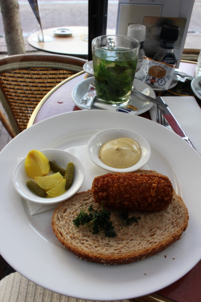 Kroket for lunch in Amsterdam