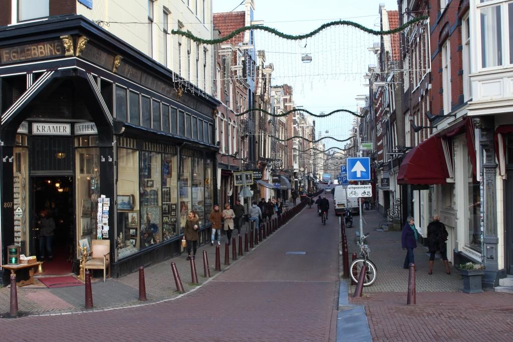 The Nieuwe Spiegel Gracht in Amsterdam