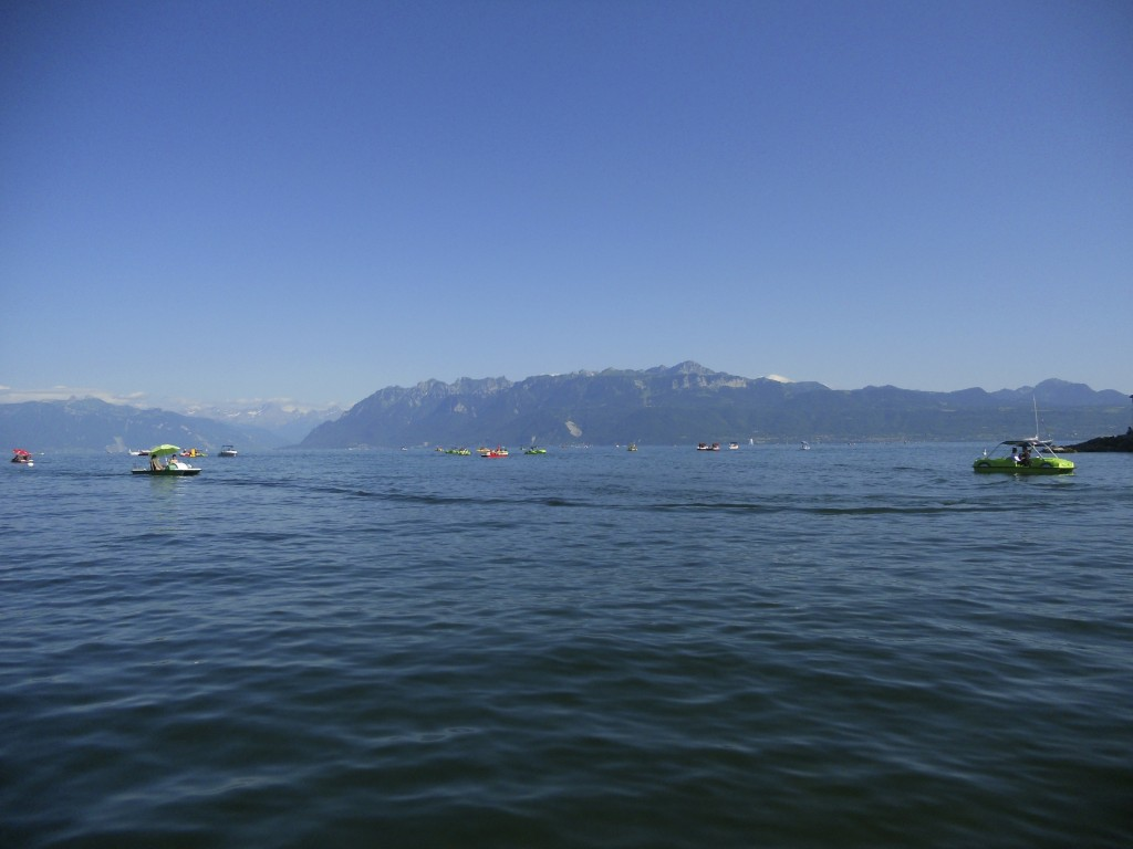 View of the Jura and Lac Leman from Ouchy