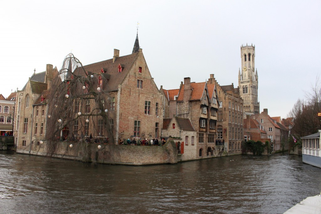 A canal with the Belfry