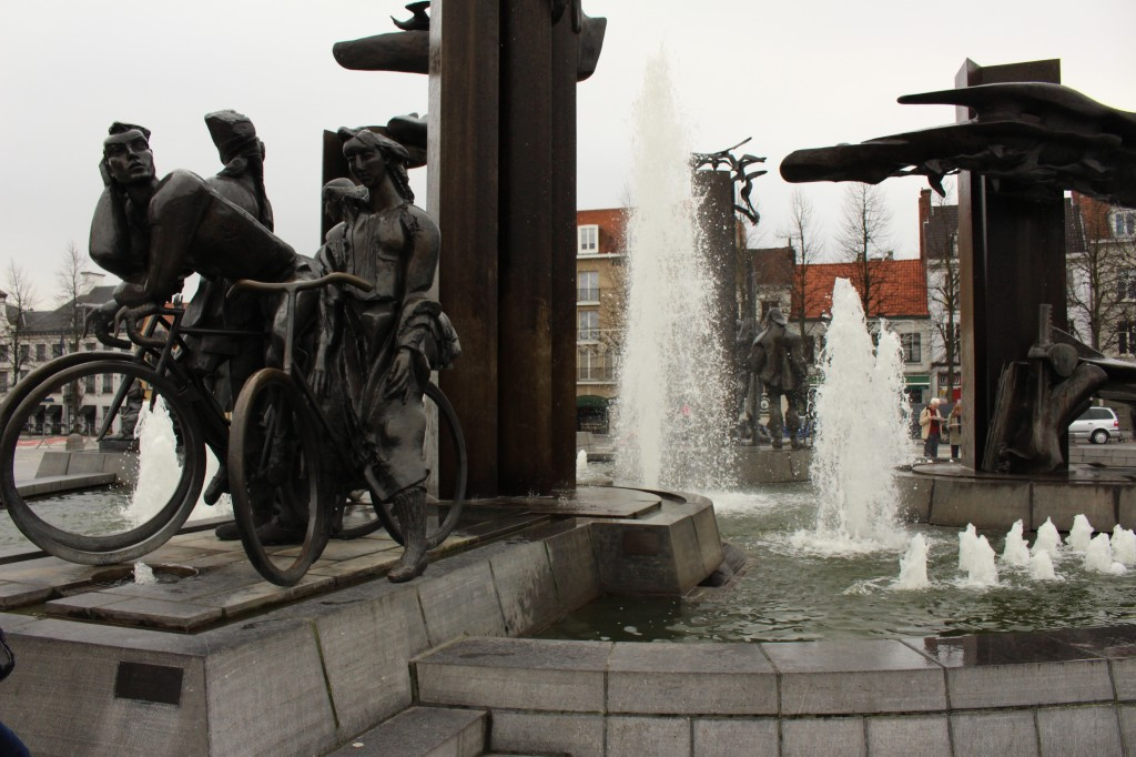 A fountain near the Concertgebouw in Bruges