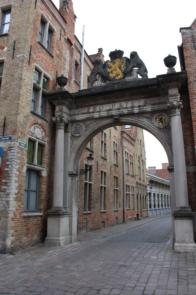A picturesque street in Bruges