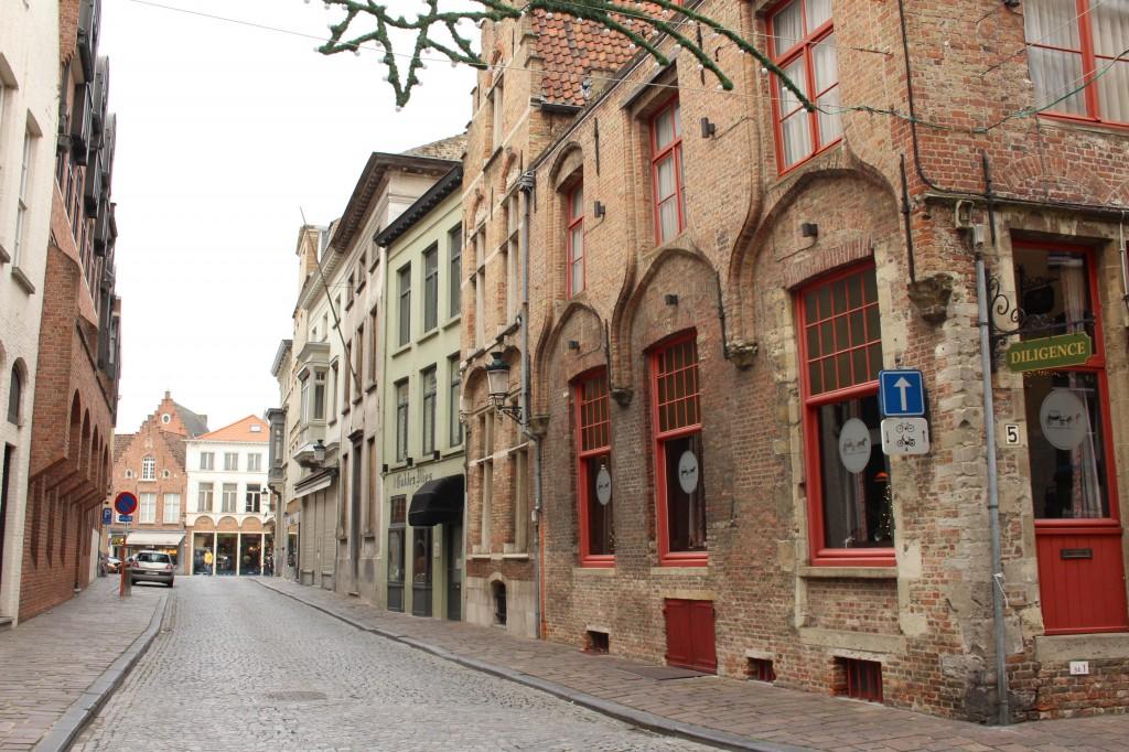 A quiet street in Bruges