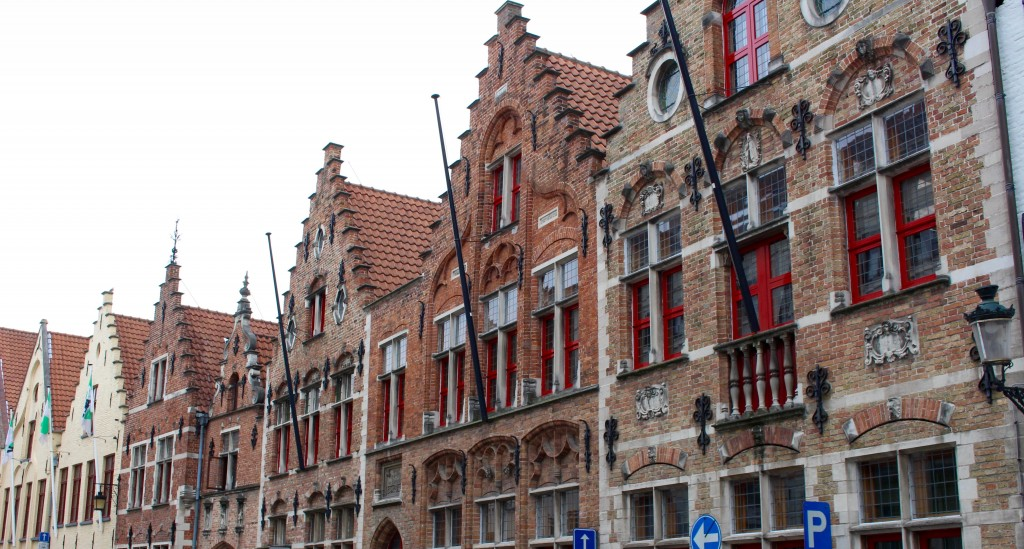Beauitful architecture in Bruges