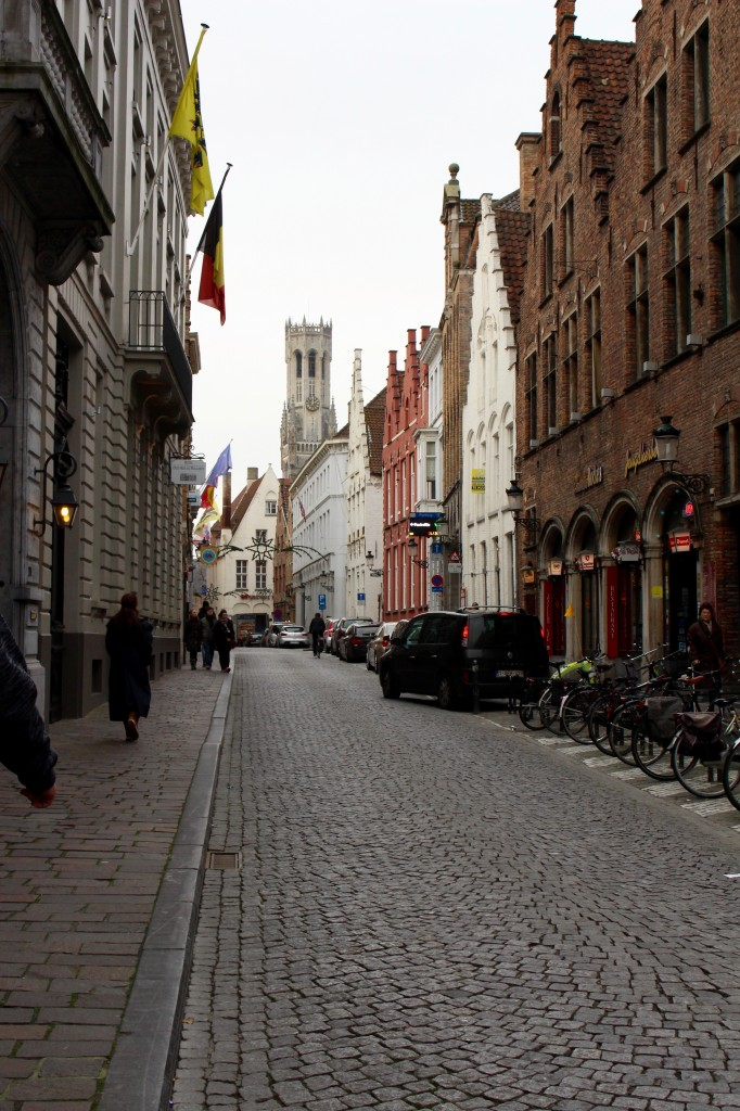 Peaceful streets in Bruges