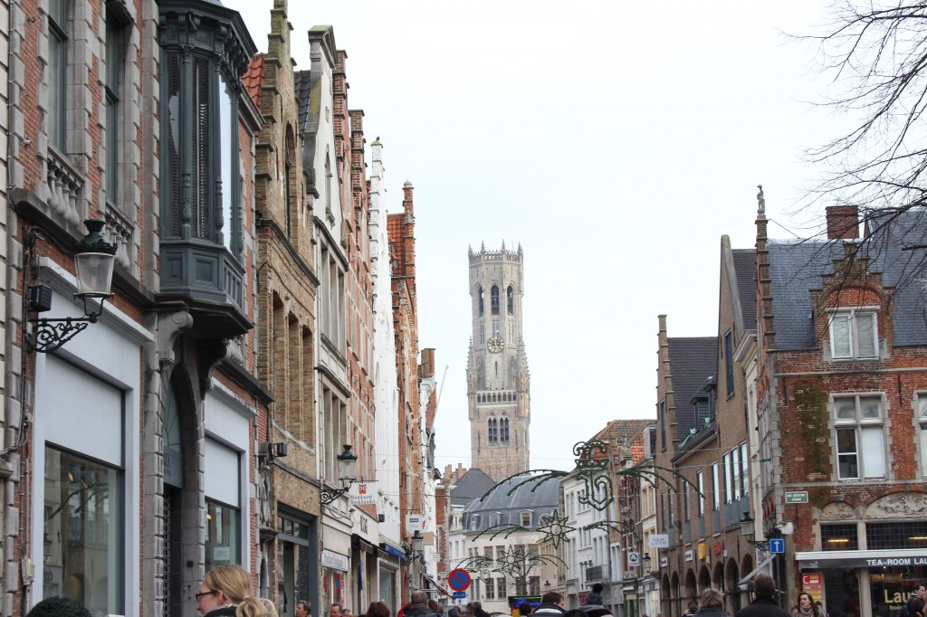 Shopping street with the Belfry