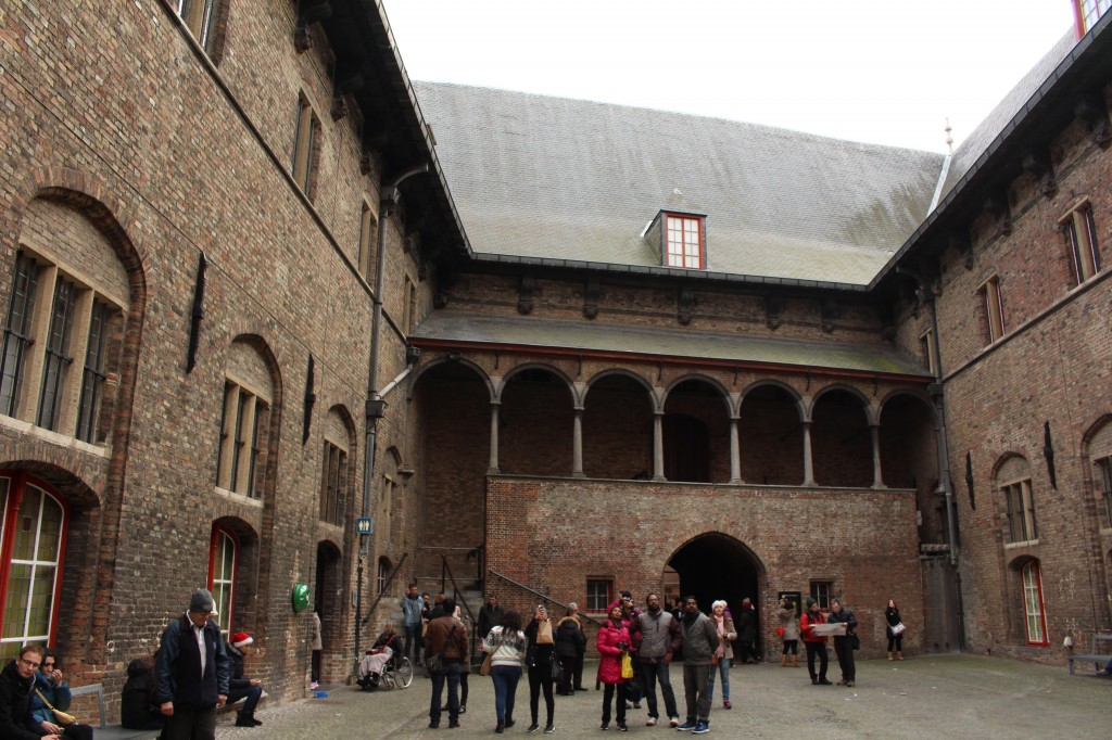 The courtyard in the Belfry