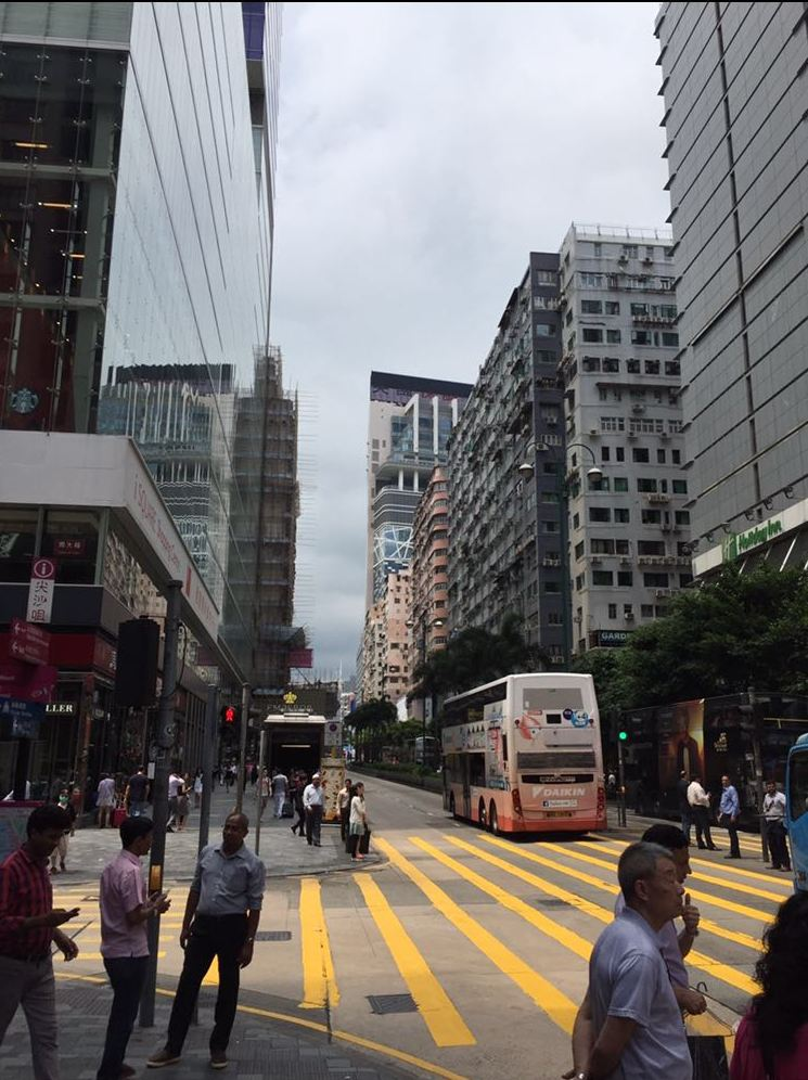 A busy day on Nathan Road in Kowloon