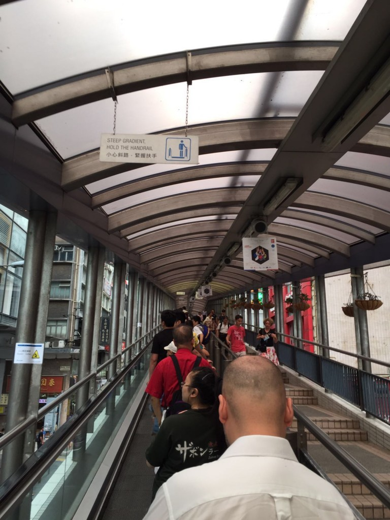 Going up the Central- Midlevel escalators