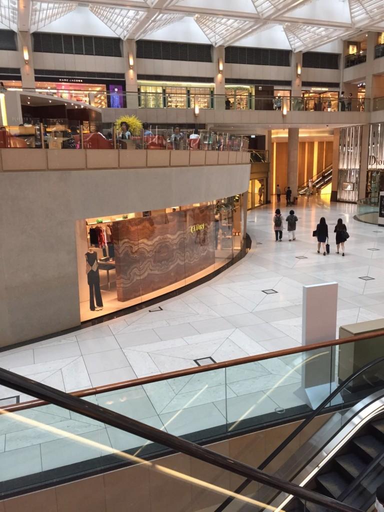 Shopping Mall in Central Hong Kong