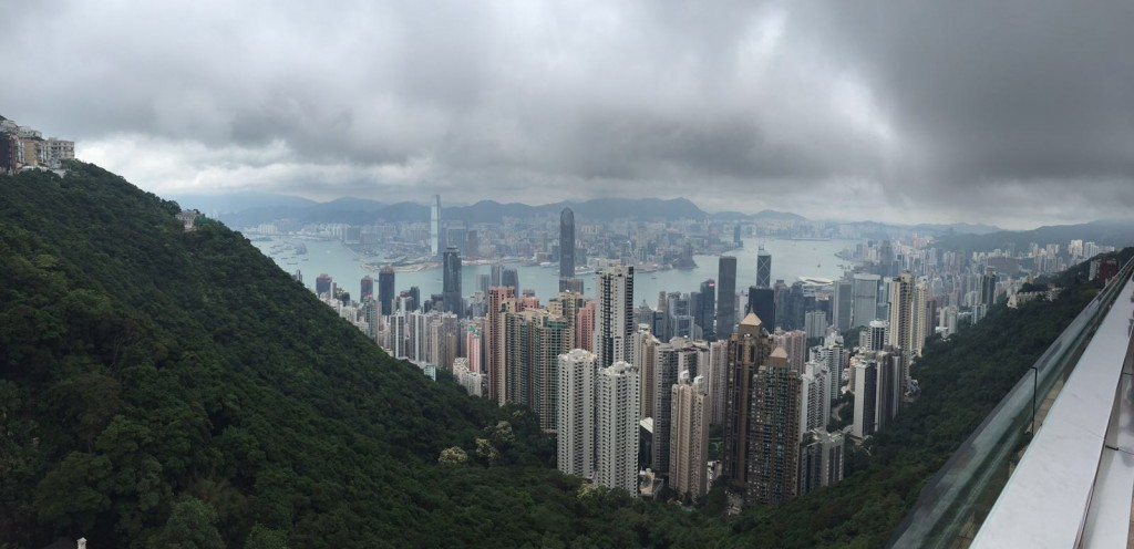 The Sky Terrace view from the peak over Hong Kong