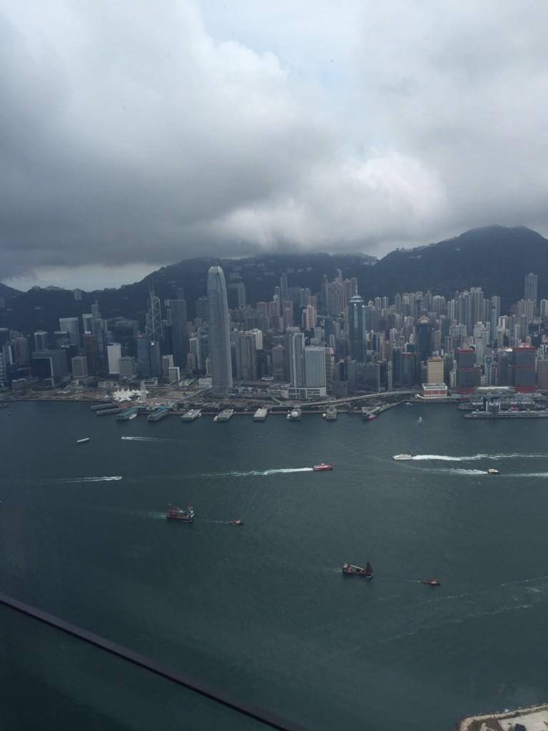 View from the Ritz-Carlton in Hong Kong