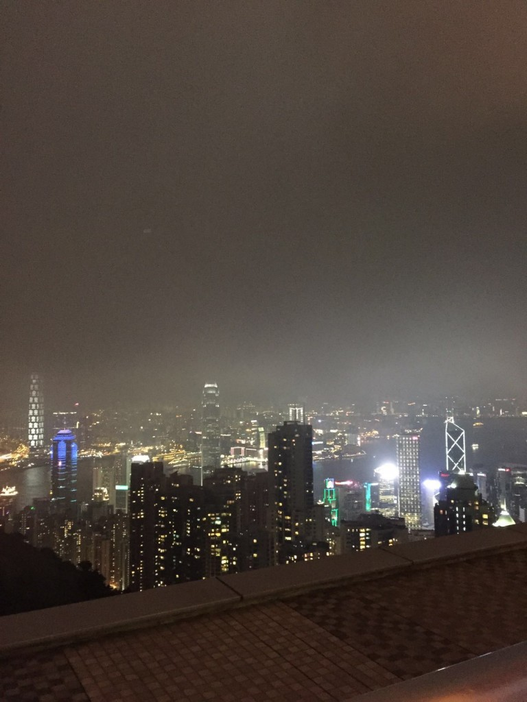 View over Hong Kong from the Peak at Night