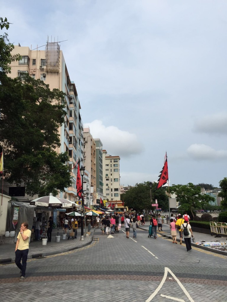 Walking around the City of Hong Kong