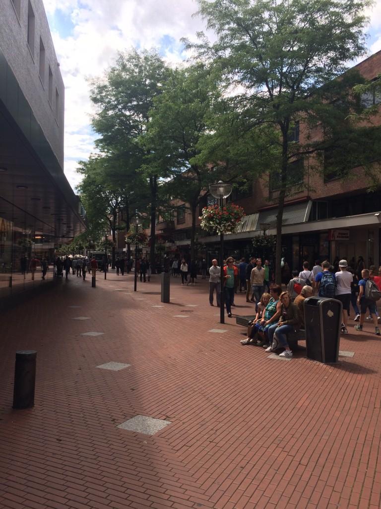Shopping street in Einhoven