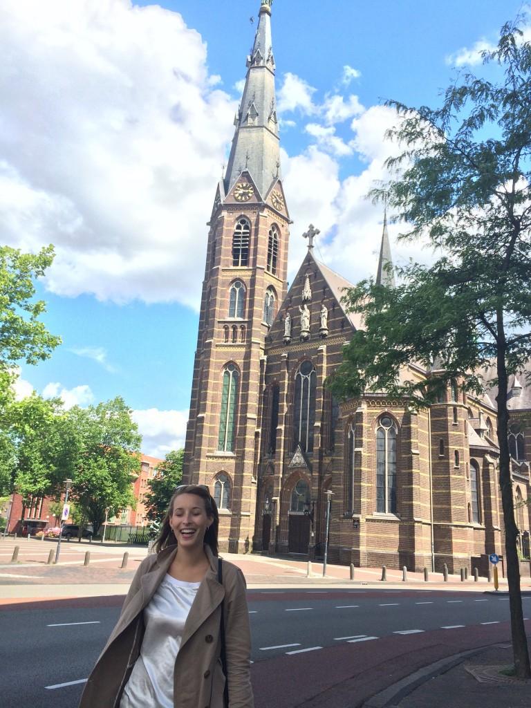 Me at the Augustijnenkerk in Eindhoven