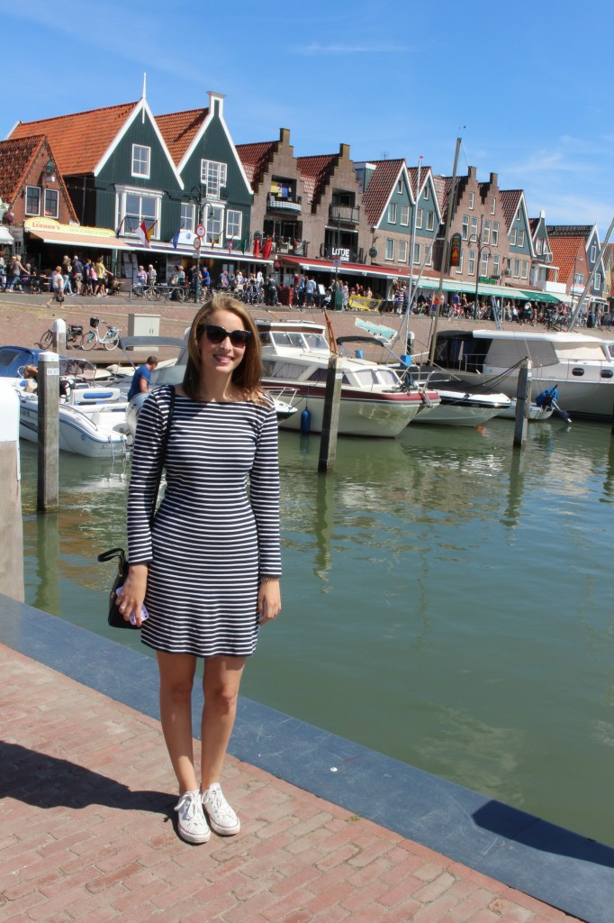 On a warm day at Volendam in North Holland!