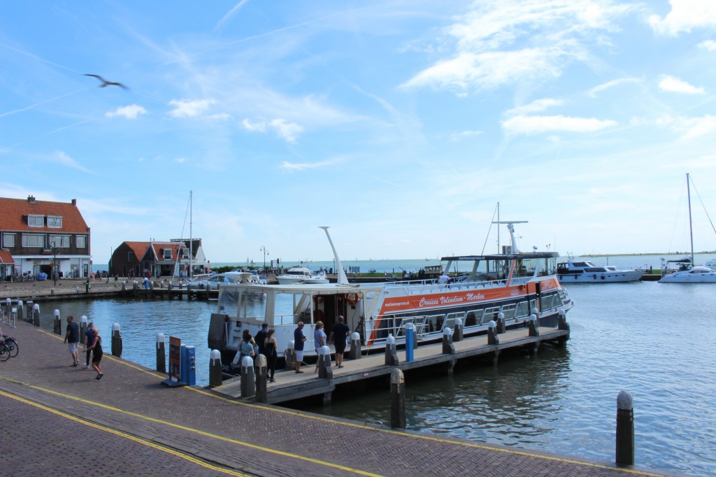 The ferry that travels to Marken from Volendam