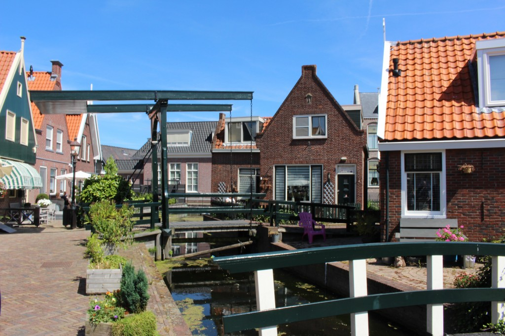 Old bridge in Volendam, North Holland