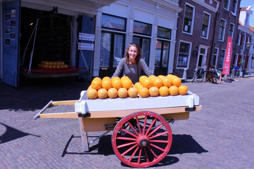 My touristy picture in Edam!