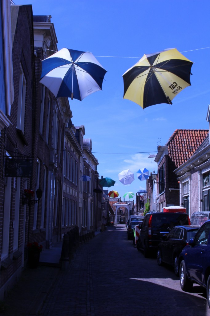 Beautiful street in Edam, The Netherlands
