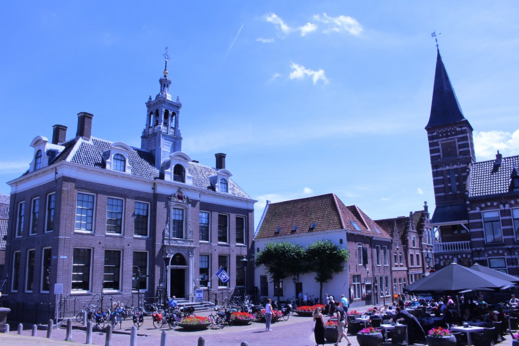 The Edam Museum and at a lively square