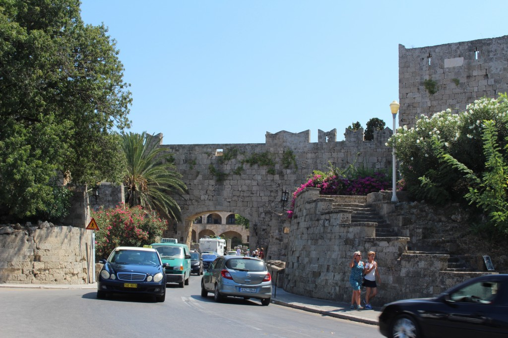 Entrance to the Medieval city in Rhodes.