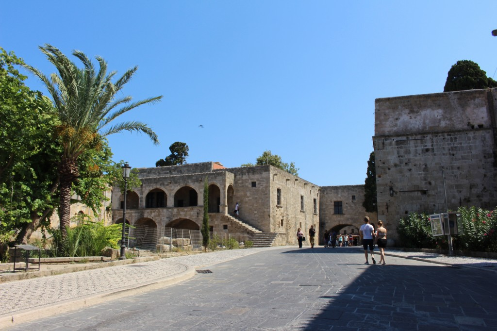 Walking through the Medieval City in Rhodes