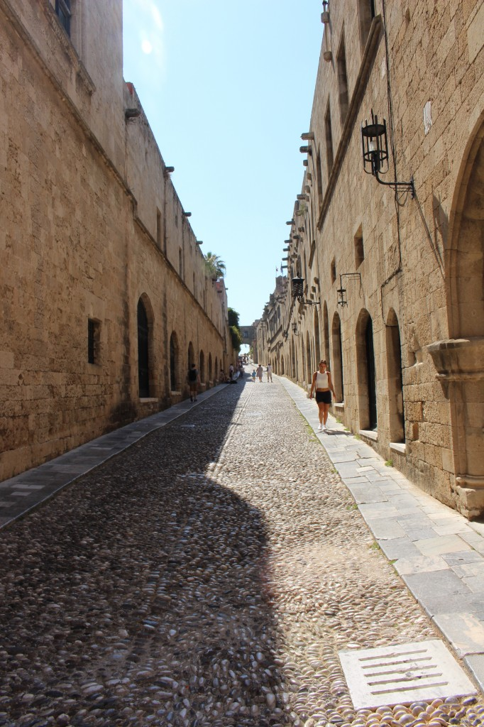 Knights street in the Medival City of Rhodes, Greece