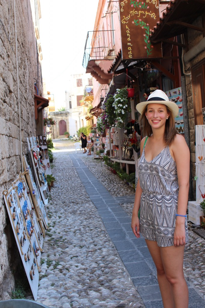 My touristic picture in the Medieval City of Rhodes.