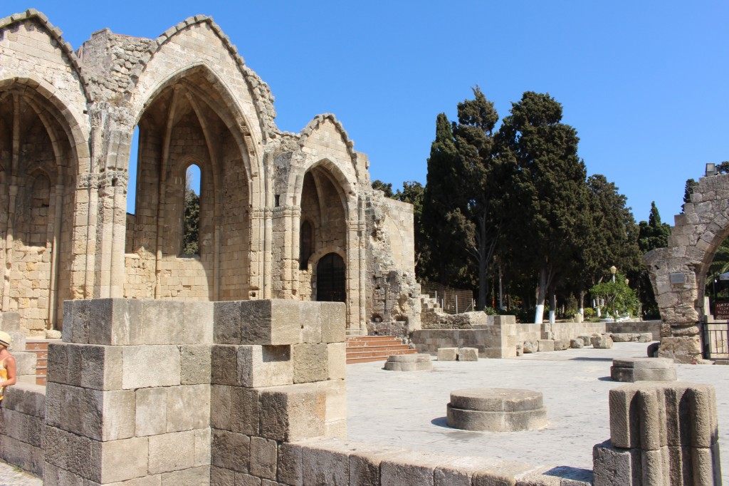 Ruins at the Medieval city of Rhodes.