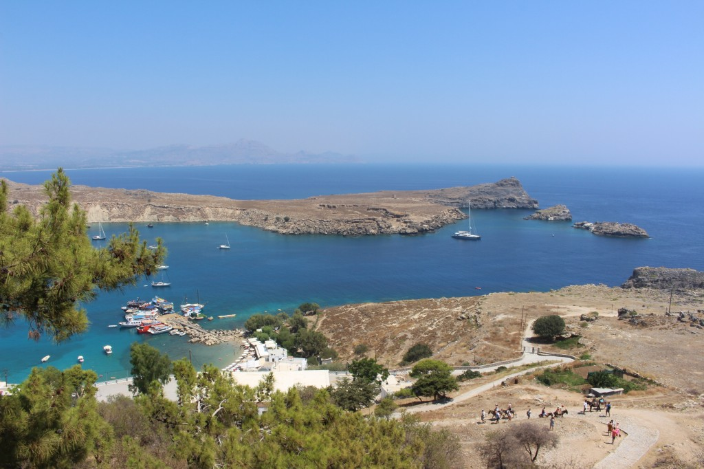 View from the Acropolis of Lindos