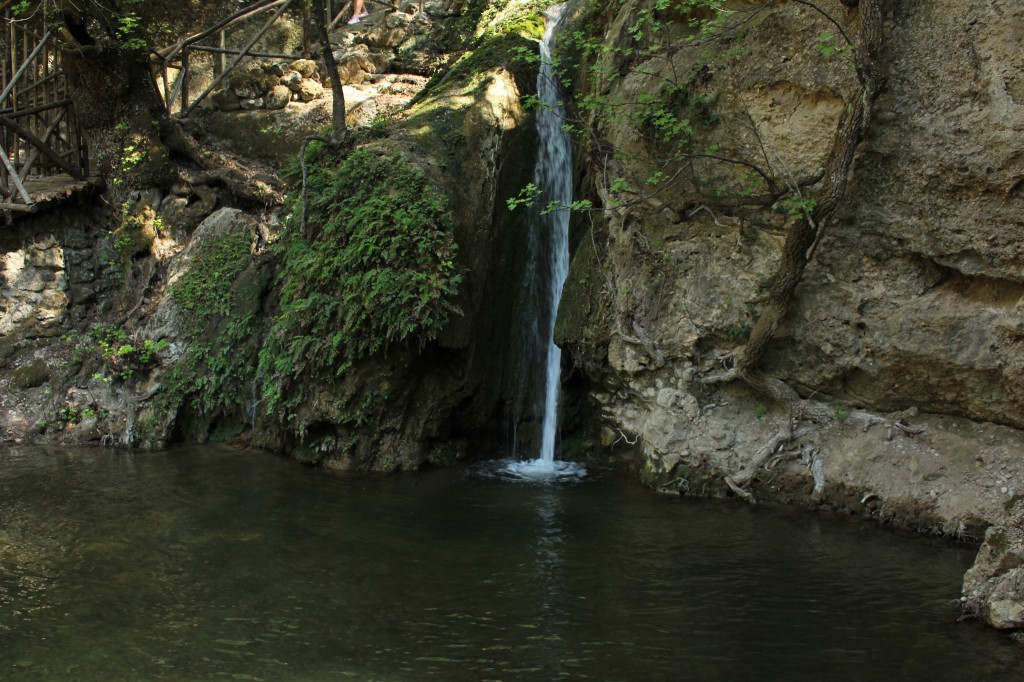 Waterfall in the butterfly valles in Rhodes