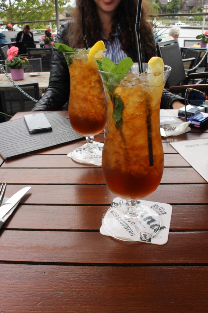 Home-made Ice tea at Buvette t' piepenhoes in Maastricht, The Netherlands