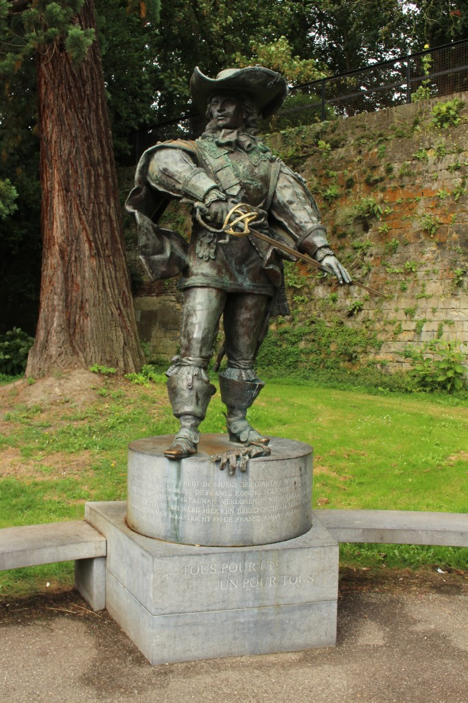 Statue of D'Artagnan in the Stadspark in Maastricht
