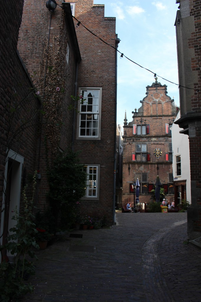 Narrow alleyways around the Stevenskerk in Nijmegen