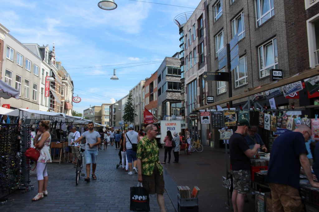 The busy Market in Nijmegen